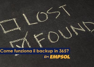 Uso i sistemi 365, ma il backup come funziona?